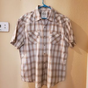 Levi Strauss Co Two Horse Brand SS Western Shirt